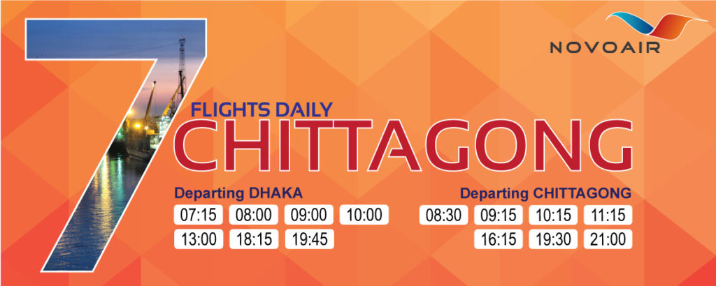Daily 7 Flights to Chittagong