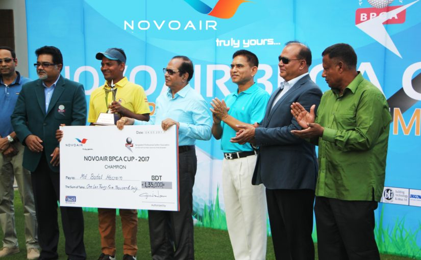 Prize giving ceremony of NOVOAIR BPGA Cup, Professional golf tournament