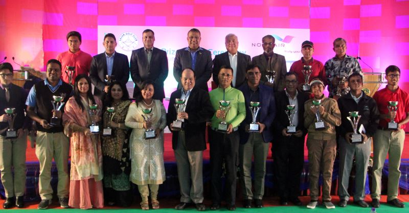 Prize giving ceremony of NOVOAIR Cup golf tournament-2018